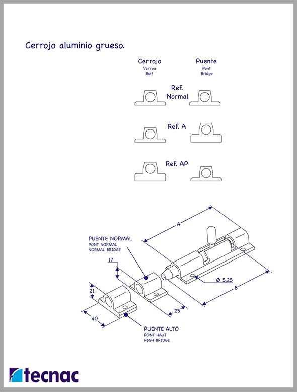 cerrojos gruesos lineal