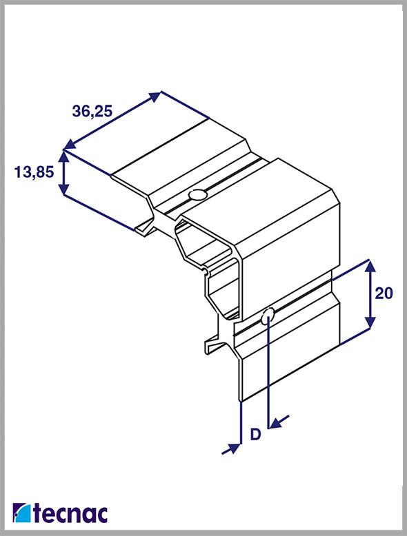 escuadra aluminio 4020 lineal