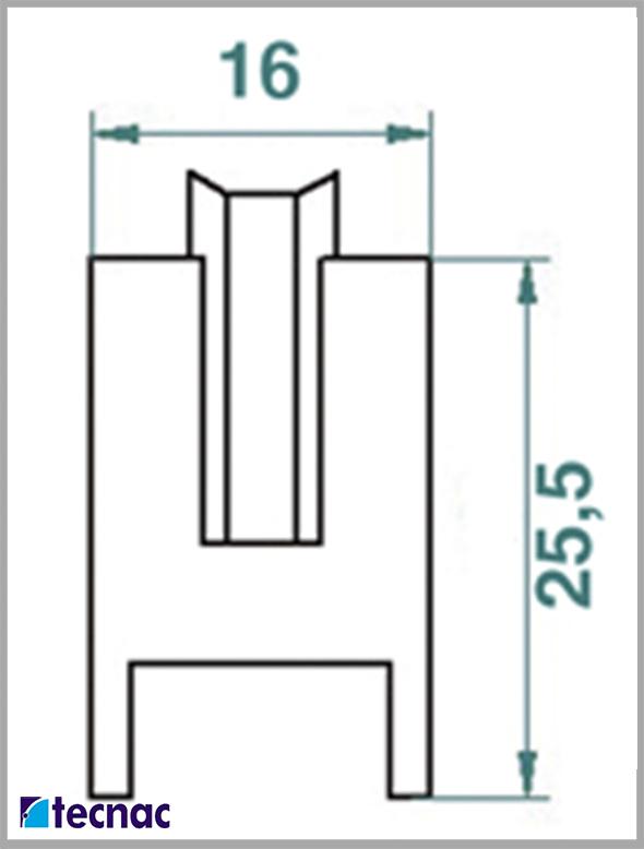 rueda nylon al21 lineal