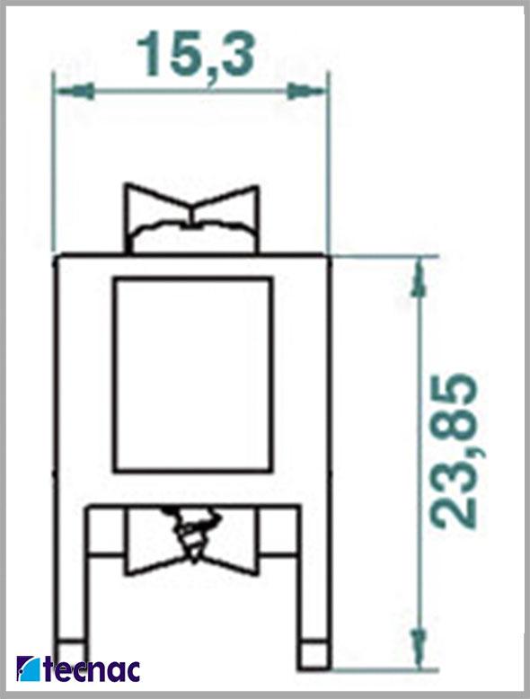 Rueda nylon TT lineal