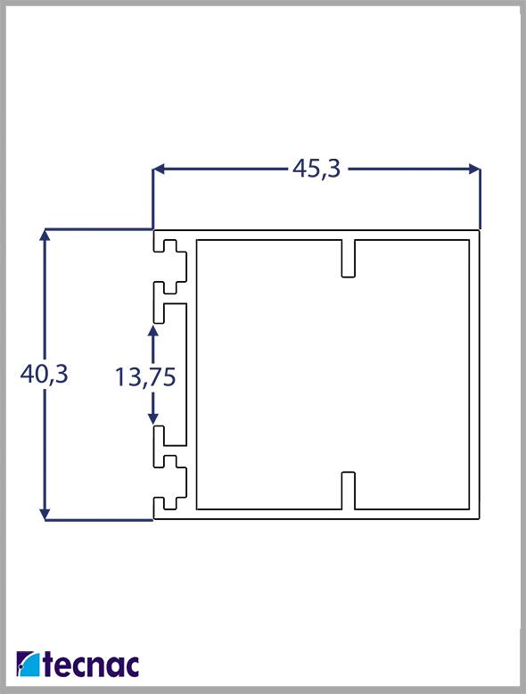 bisagra colgante 4071 lineal