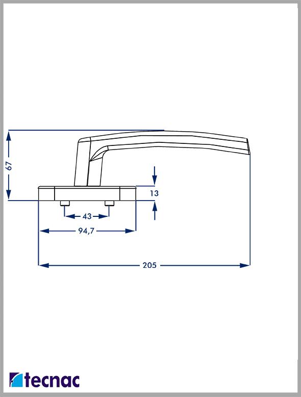 manilla multipunto titan lineal