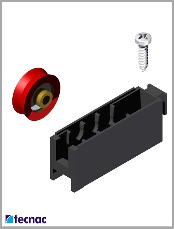 rueda nylon TT despiece