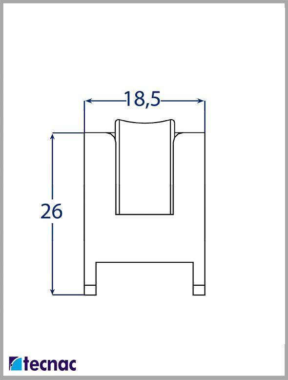 rueda nylon al-15cr lineal