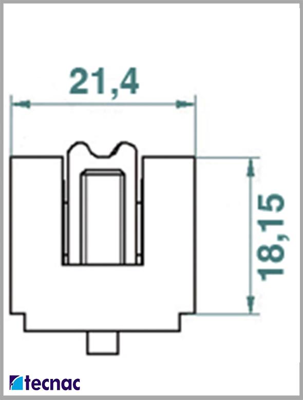 rueda nylon g90 lineal