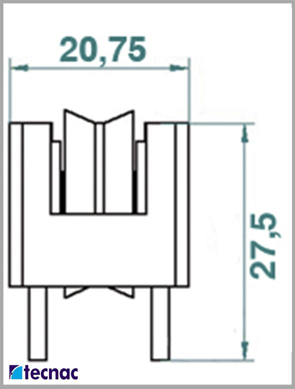 rueda nylon marina lineal