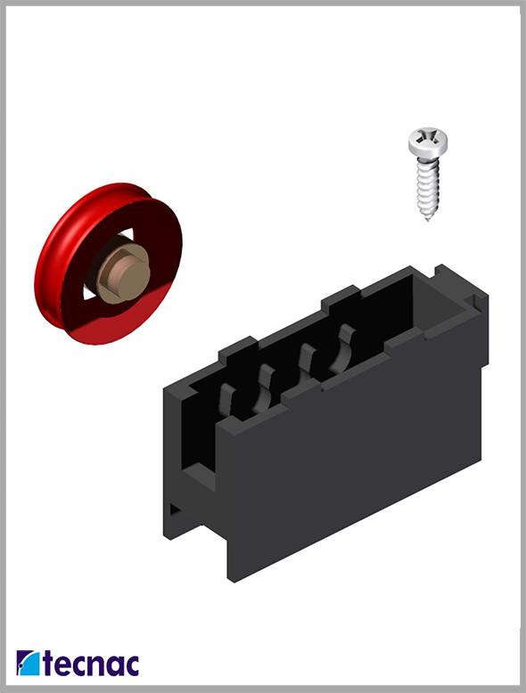 rueda nylon p92 despiece