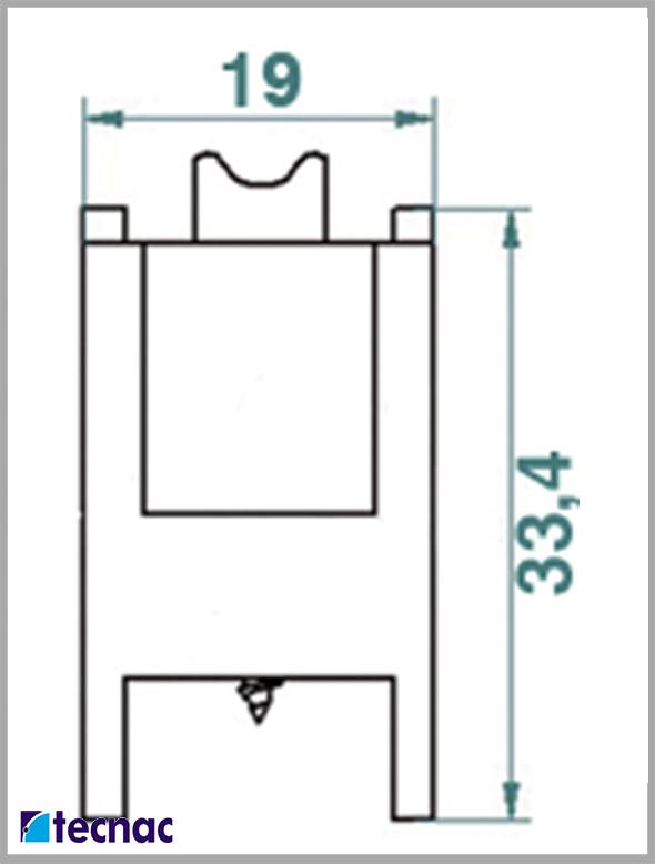 rueda nylon p92 lineal