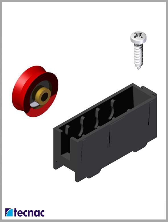 rueda nylon triana despiece