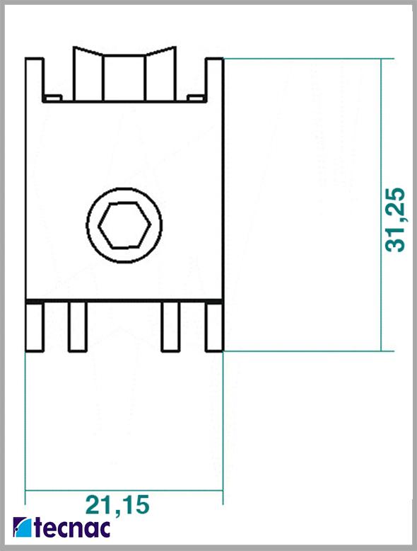 rueda zamak 800 lineal