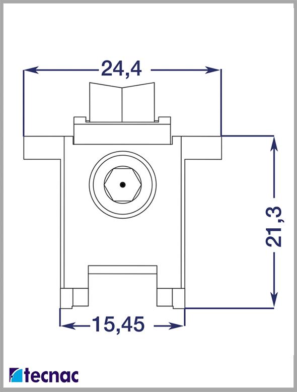 rueda zamak al18 lineal