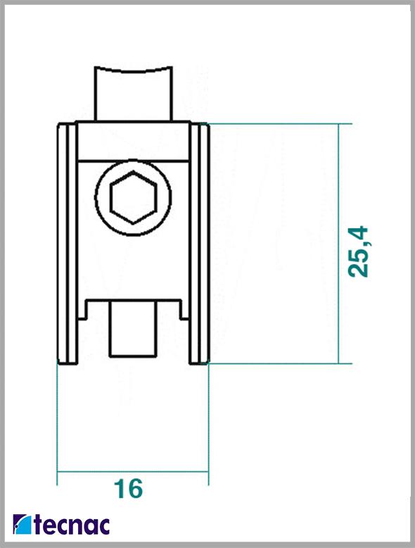 rueda zamak alg400 lineal