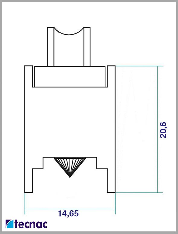 rueda zamak p6065 lineal