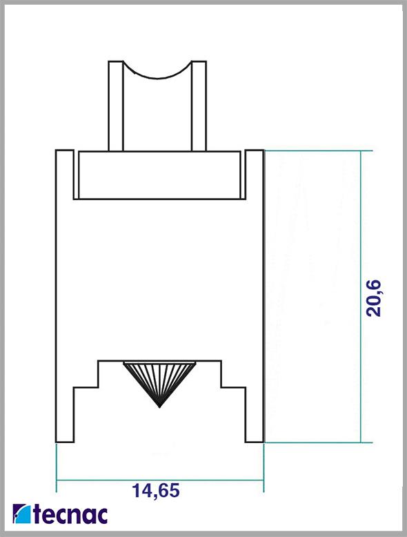 rueda zamak p6065 tandem lineal
