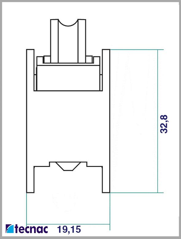 rueda zamak p92 tandem lineal