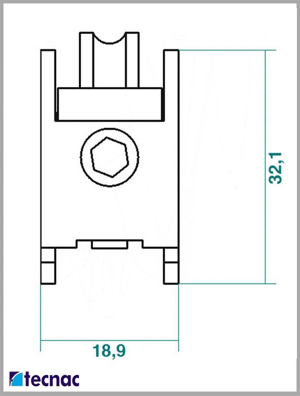 rueda zamak p92 lineal