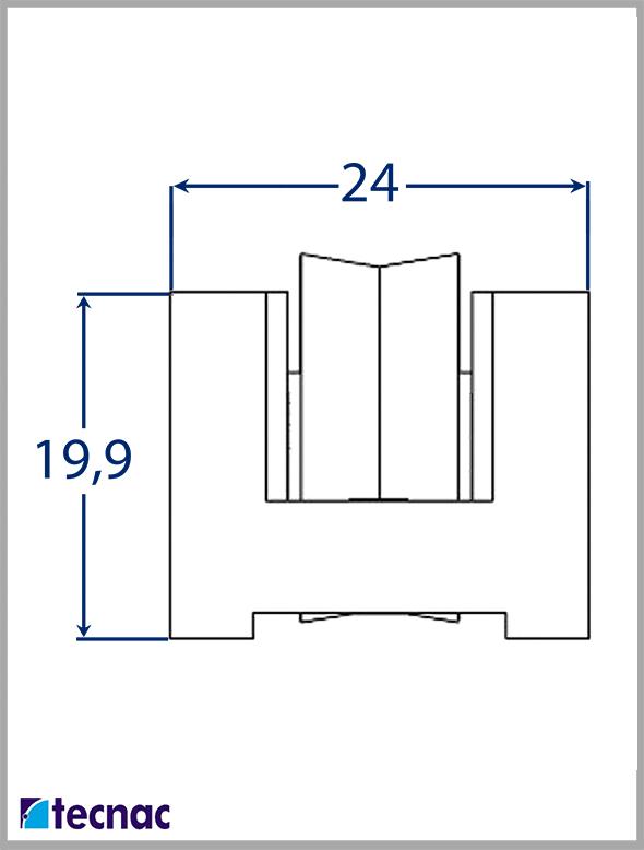 rueda nylon al18 lineal