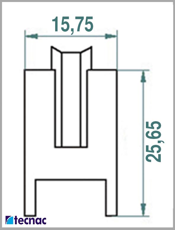 rueda nylon al21_4r lineal